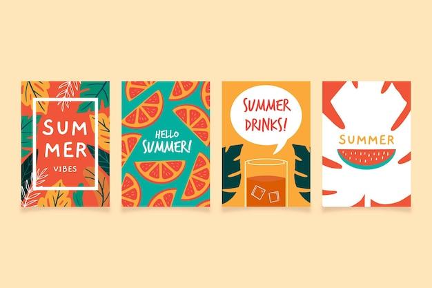 Rysowane szablon karty lato