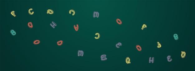 Rysowane tablica wektor panoramiczne tło. stylizowana okładka tekstu. kształcić szkic zarządu czcionki. szkicowy tło.