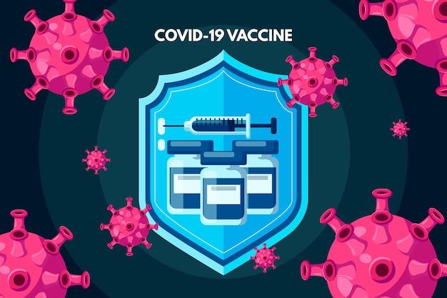 Rysowane tło szczepionki koronawirusowej