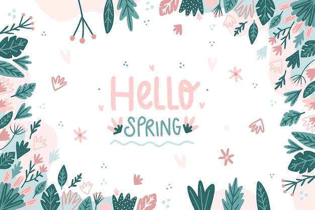 Rysowane witam wiosnę tło
