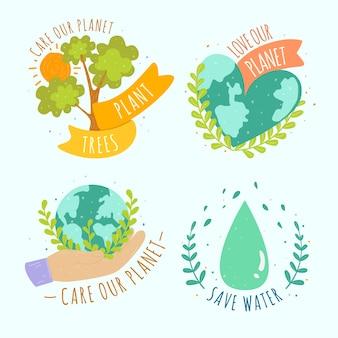 Rysowanie kolekcji znaczków ekologii