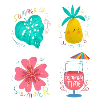 Rysowanie letnich etykiet