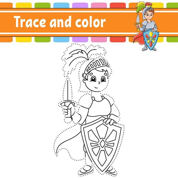 Rysowanie po śladzie i kolorowanie kolorowanki dla dzieci
