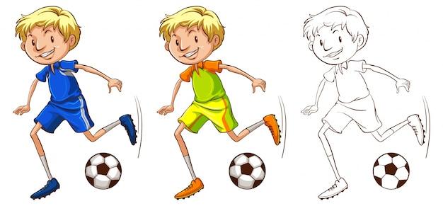 Rysowanie postaci do ilustracji piłkarz