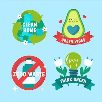 Rysowanie z motywem odznak ekologii
