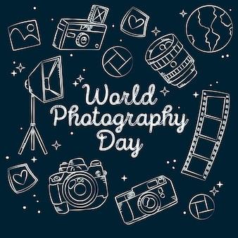 Rysowany światowy dzień fotografii