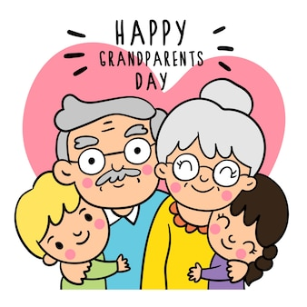 Rysuj styl bazgroły dzień dziadków.