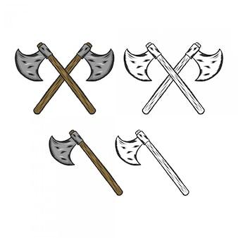 Rysunek dłoni axe