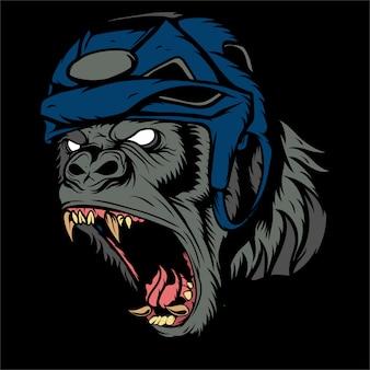 Rysunek głowy goryla