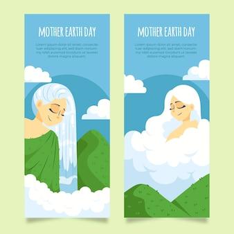Rysunek kolekcji transparent dzień matki ziemi