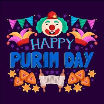 Rysunek koncepcji dnia purim