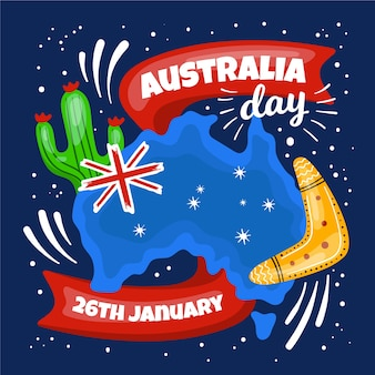 Rysunek koncepcji na dzień australii
