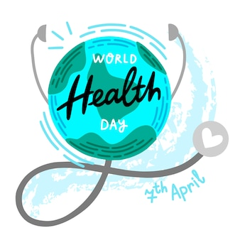 Rysunek koncepcji światowego dnia zdrowia