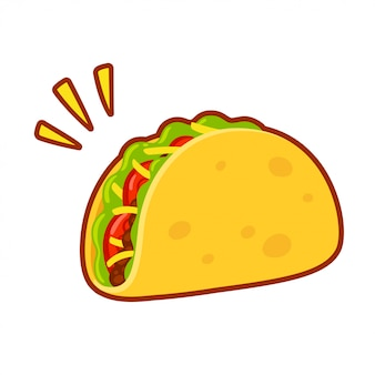 Rysunek kreskówka taco