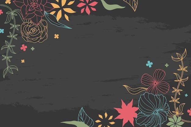 Rysunek kwiatów na tablicy tapeta