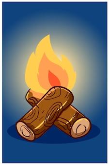 Rysunek odręczny ilustracja ogniska