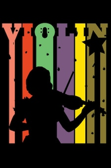 Rysunek ręka dziewczyny skrzypce