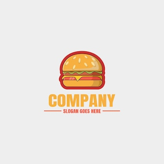 Rysunek ręka logo burger
