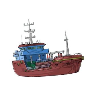 Rysunek statku handlowego