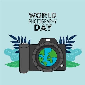 Rysunek światowego dnia fotografii