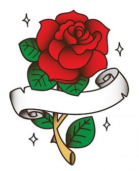 Rysunek tatuaż rose