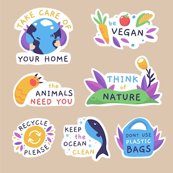 Rysunek tematu kolekcji odznak ekologii