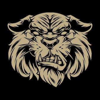 Rysunek twarzy tigera 1