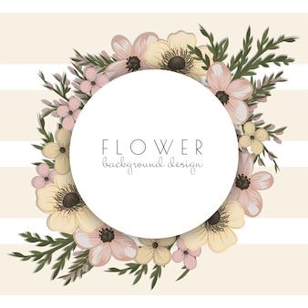 Rysunek wieniec kwiatów