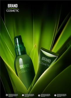 Rysunek wizualny reklam produktów kosmetycznych