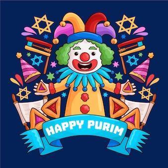 Rysunek wydarzenia purim day