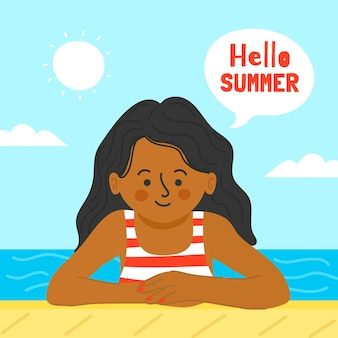 Rysunek z koncepcją witaj lato