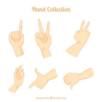 Rysunki ręce kolekcji