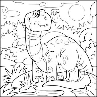 Rysunkowy brachiozaur,