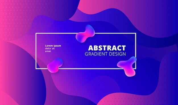 Rzadkopłynny stylowy geometryczny tło - purpurowy i błękitny gradientowy szablon