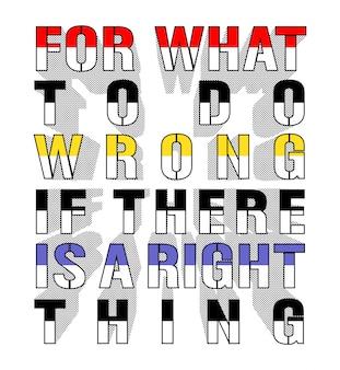Rzecz typografia do koszulki z nadrukiem