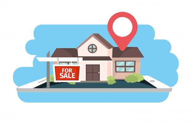 Rzeczywista lokalizacja nieruchomości w stanie stanie na sprzedaż
