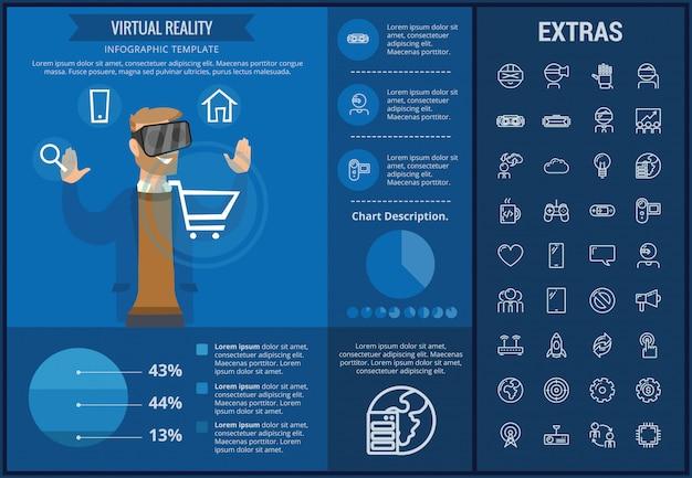 Rzeczywistość wirtualna infographic szablon i elementy
