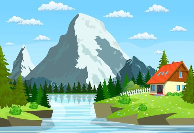 Rzeka płynąca przez skaliste wzgórza