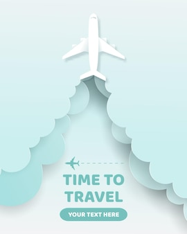 Rzemiosło podróży transparent, czas podróży koncepcja.