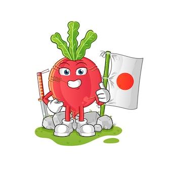 Rzodkiewka Japońska Premium Wektorów