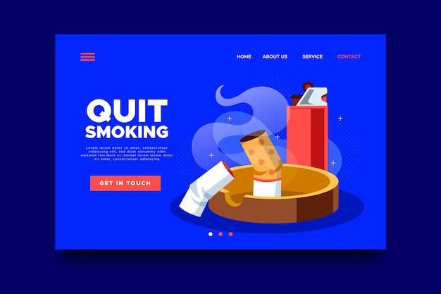 Rzucić palenie szablon strony docelowej