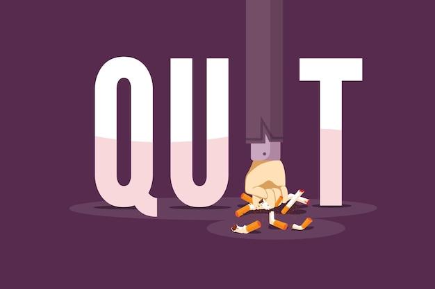 Rzucić palenie z połamanymi papierosami