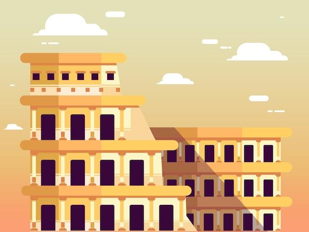 Rzymskie koloseum nad niebem