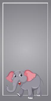 Słoń na szary szablon