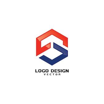 S logo projekt wektor