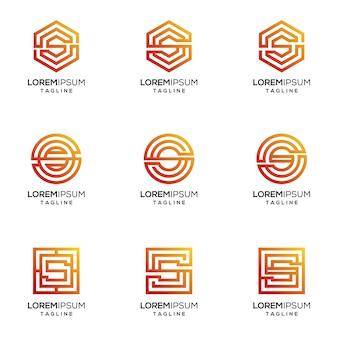 S logo w kolorze gradientu