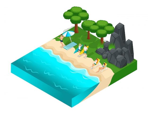 S rekreacja na świeżym powietrzu, skała, góry, kamienie, trawa, młodzi ludzie relaksują nastolatków, rzeka, plaża, letnie ubrania