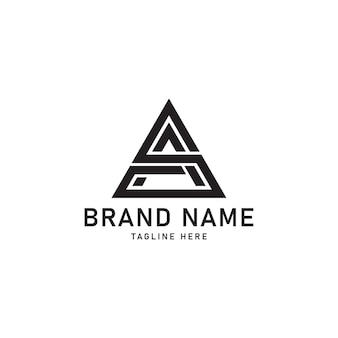 Sa logo ikony początkowej litery
