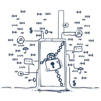 Safe padlock ogólne rozporządzenie o ochronie danych