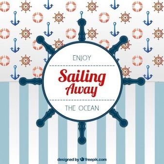 Sailor tło z steru